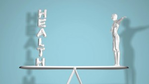 stock-footage-keeping-a-balanced-health-animation-graphically-depicts-a-humans-struggle-to-keep-their-health-in